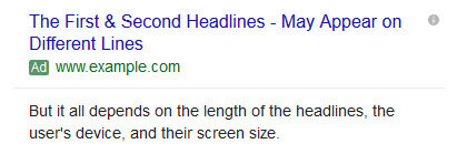 سرتیتر دوم تبلیغ متنی گوگل