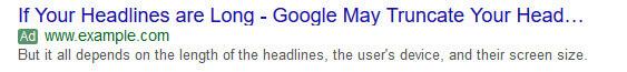 سرتیتر تبلیغ متنی گوگل