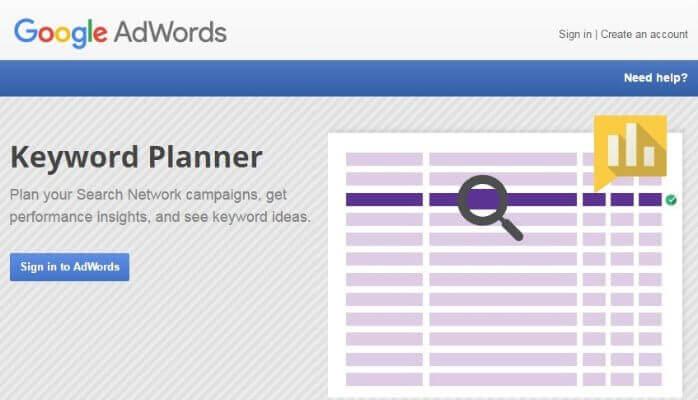ابزار ایجاد کلمات کلیدی گوگل