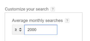 فیلتر کلمات کلیدی در گوگل کیورد پلنر