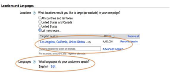 location and lanuage - چگونه در گوگل تبلیغ کنیم: راهنمای سریع برای تبلیغات در گوگل
