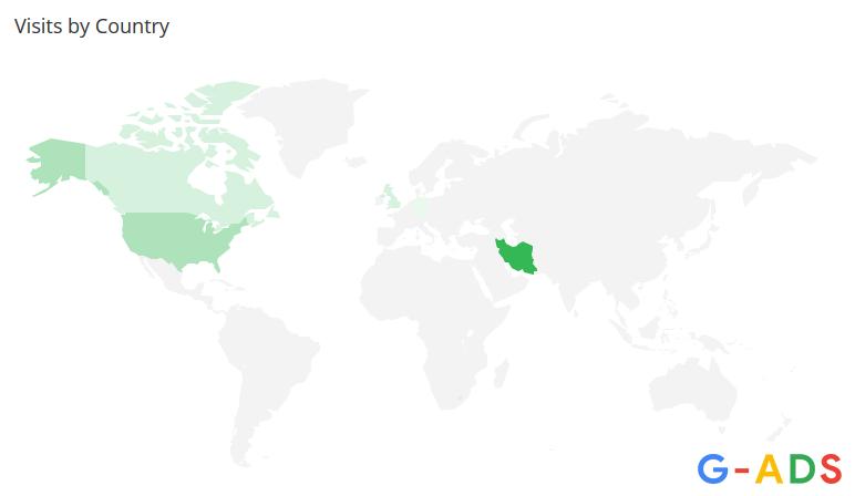 سایت الکسا موقعیت جغرافیایی بازدیدکنندگان