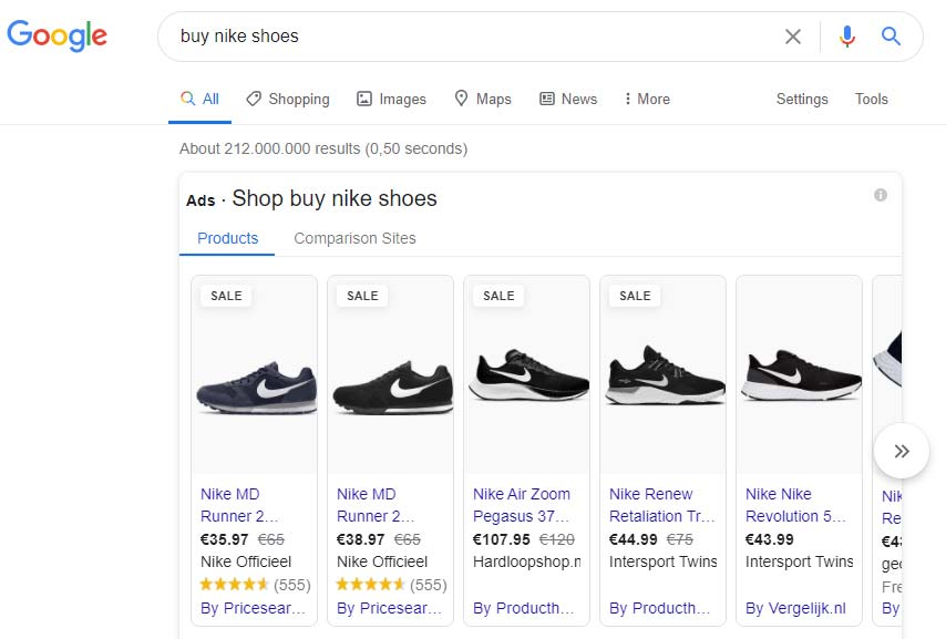 روش ثبت آگهی در گوگل - کمپین خرید یا شاپینگ