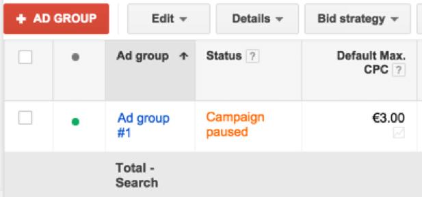 وضعیت آگهی در گوگل
