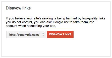 ابزار disavow در گوگل وبمستر تولز