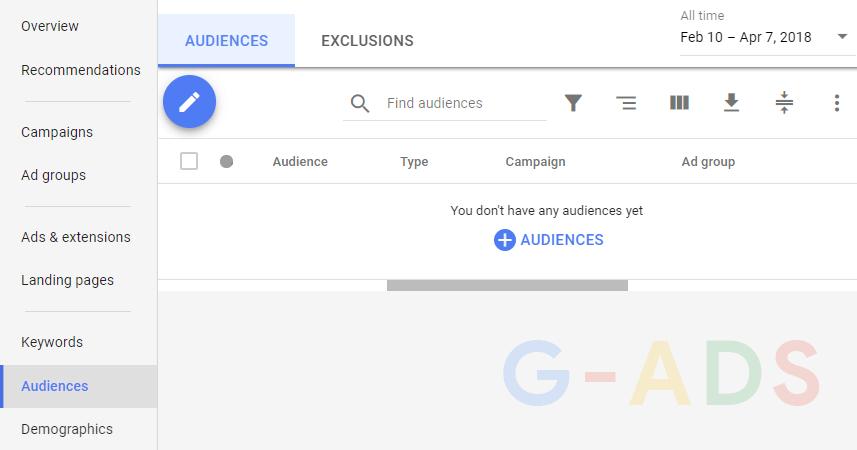همچنین پس از ایجاد اکانت نیز از بخش Audience میتوانید ریمارکتینگ را فعال کنید و لیست مخاطبان خود را به کمپین اضافه کنید.
