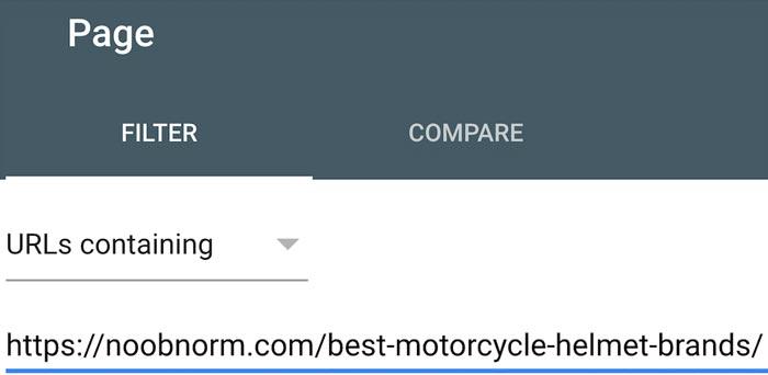 افزودن URL در گزارش Performance