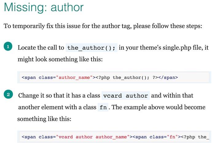 خطای Missing author