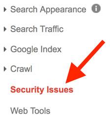 مسائل امنیتی در گوگل سرچ کنسول