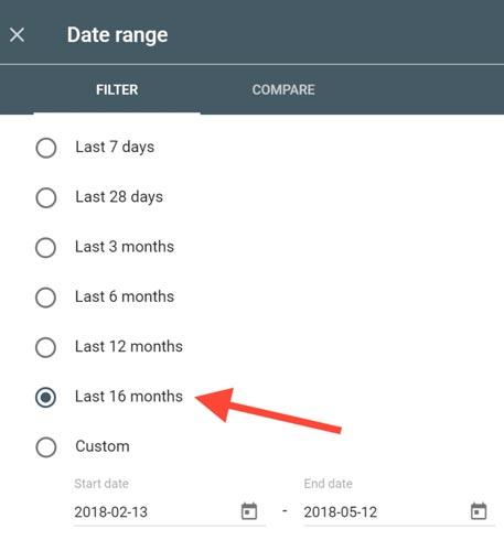 نسخه جدید Search Analytics