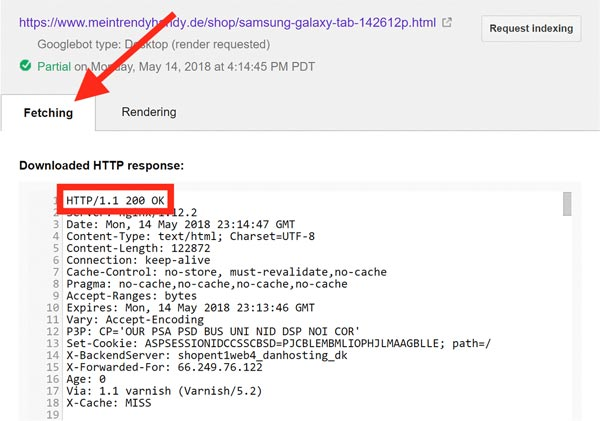 کد وضعیت HTTP
