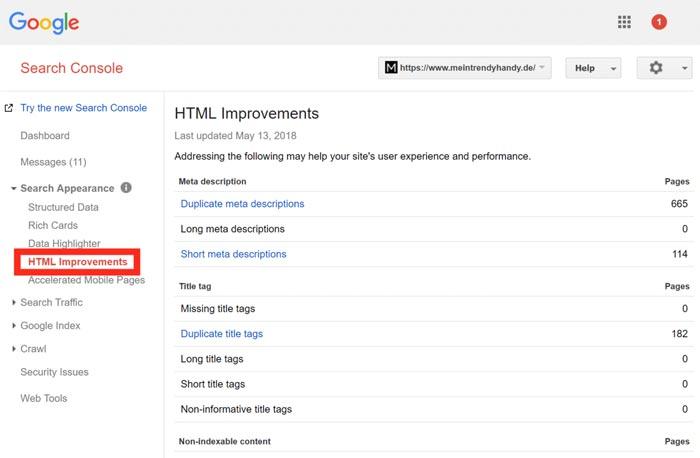 گزارش HTML Improvements