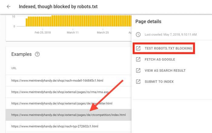 Test Robots.txt Blocking