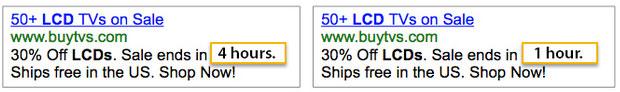 شمارش معکوس در ادوردز برای افزایش فروش اینترنتی