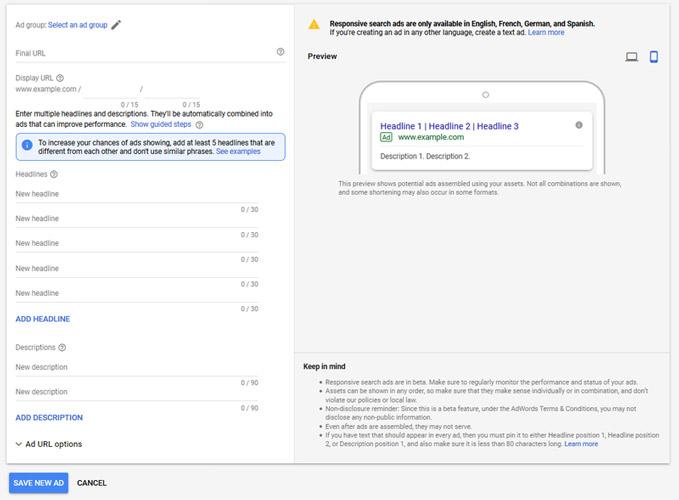 تبلیغات رسپانسیو سرچ گوگل
