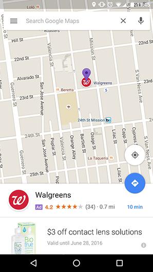 پین های تبلیغاتی در گوگل مپ
