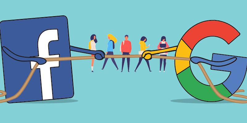 مقایسه تبلیغات در گوگل و فیسبوک