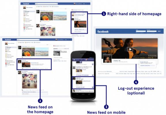 نمونه تبلیغات در فیسبوک