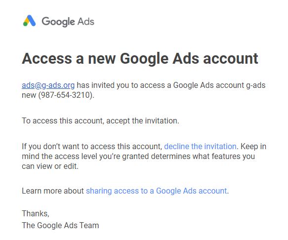 ایمیل دسترسی