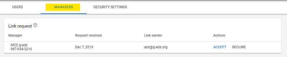 تایید دسترسی گوگل ادز