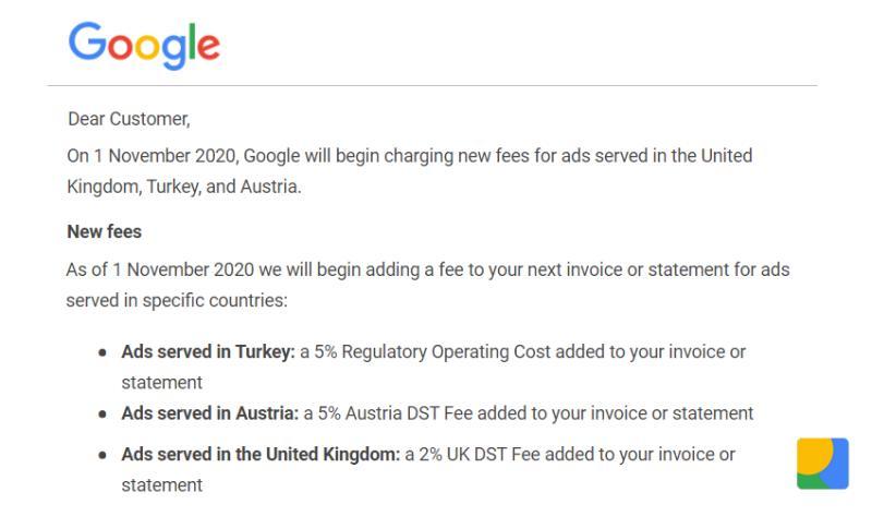 هزینه اضافی تبلیغات گوگل