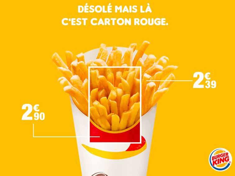 تبلیغات مقایسه ای برگر کینگ در مقابل مک دونالد