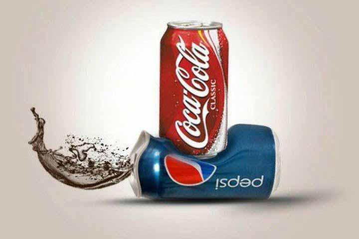 تبلیغات مقایسه ای کوکا در مقابل پپسی