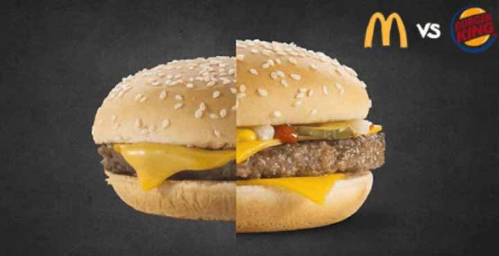 برگرهای کینگ برگر در مقابل مک دونالد - تبلیغات مقایسه ای