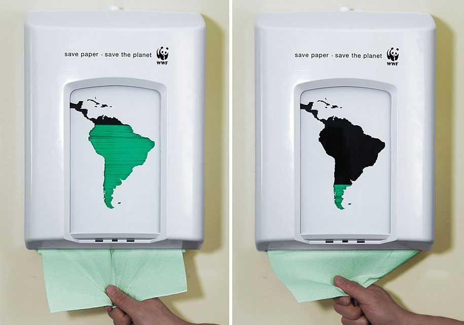 انواع تبلیغات محیطی - تبلیغ خلاقانه نجات جهان
