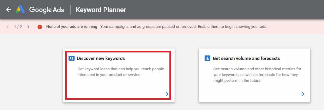 نحوه پیدا کردن کلمات کلیدی گوگل ادز در کیورد پلنر