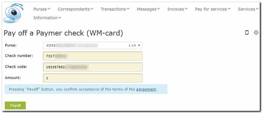وارد کردن شماره های کارت وبمانی