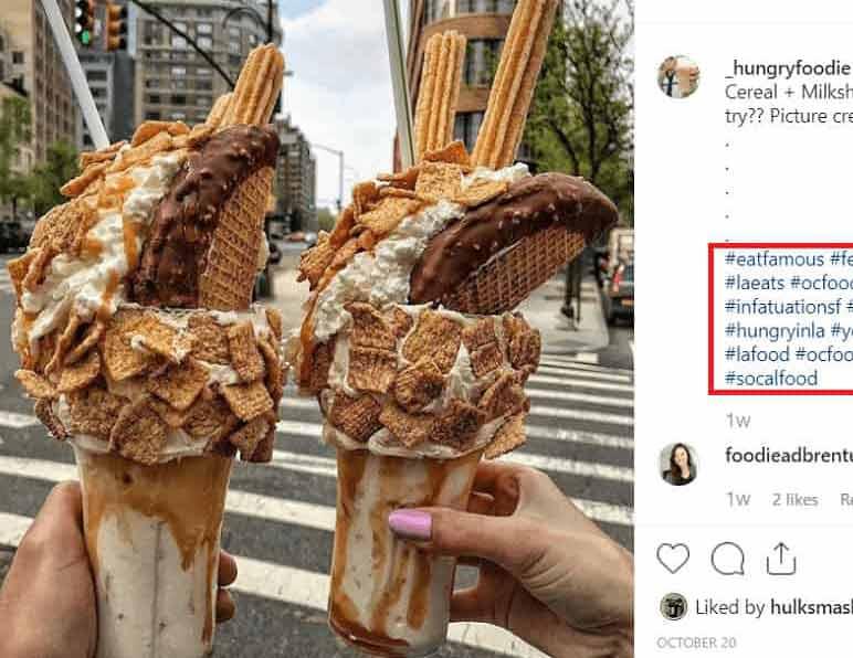 کاربران خود را به تولید محتوا تشویق کنید - پست اینستاگرامی مربوط به تبلیغات دهان به دهان برای بستنی