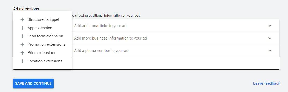 چگونه میتوانم افزونه Lead Form را در تبلیغات گوگل ادز اضافه کنم؟
