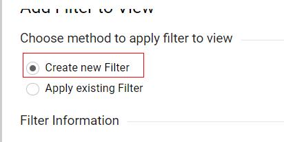 ایجاد فیلتر جدید