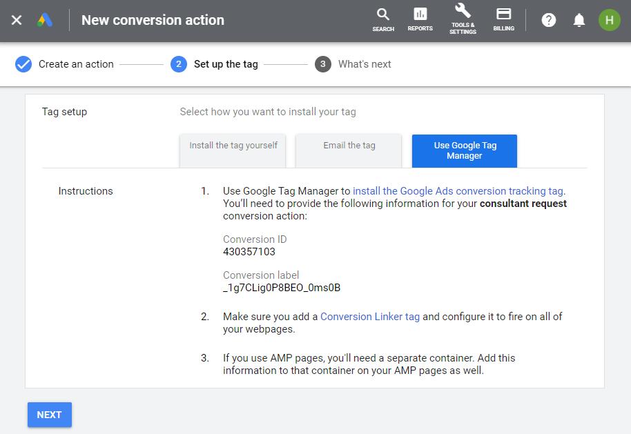 قرار دادن تگ گوگل ادز از طریق گوگل تگ منیجر