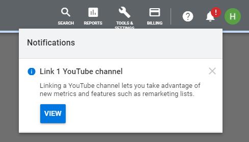 نوتیفیکیشن لینک کانال یوتیوب