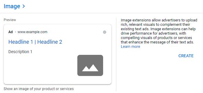 افزونه تصویر در گوگل ادز