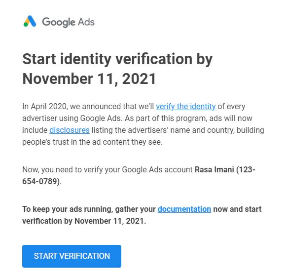 احراز هویت گوگل ادز